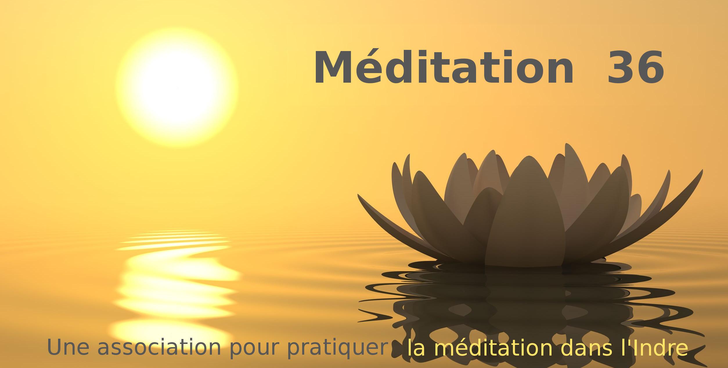 Méditation 36 – pratiquer la méditation dans l'Indre Logo